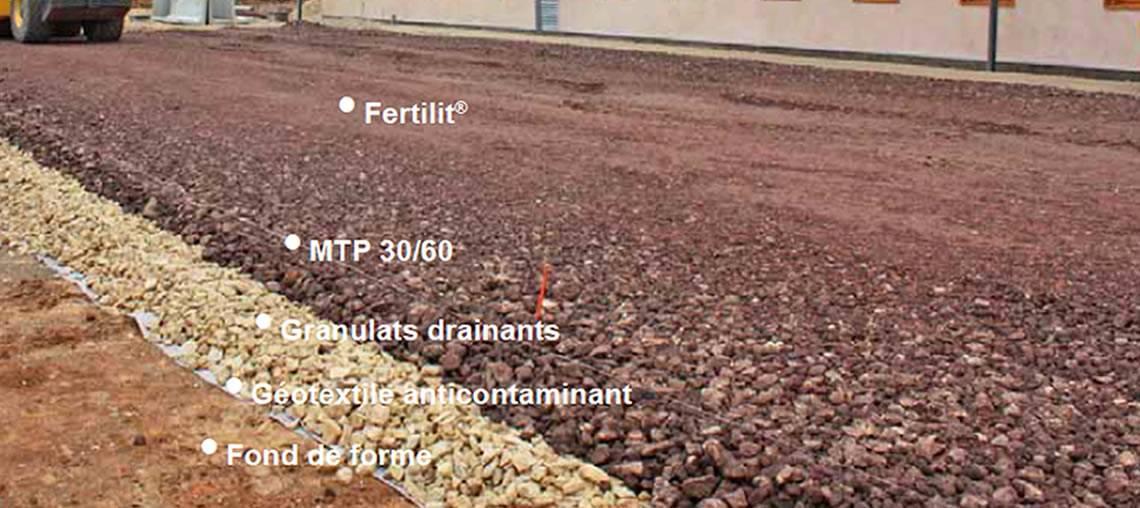 Les matériaux de remplissage des dalles ECOVEGETAL ECORASTER