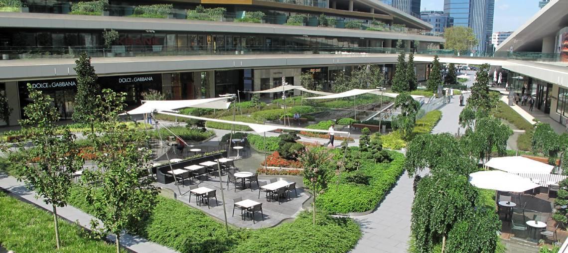Terrasse jardin accessible aux piétons
