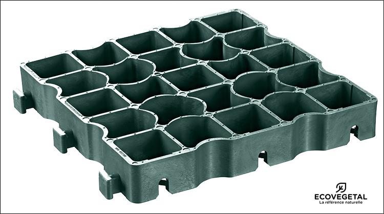 Ecovegetal s 39 allie ecoraster pour proposer des dalles alv olaires - Dalles plastique pour garage ...