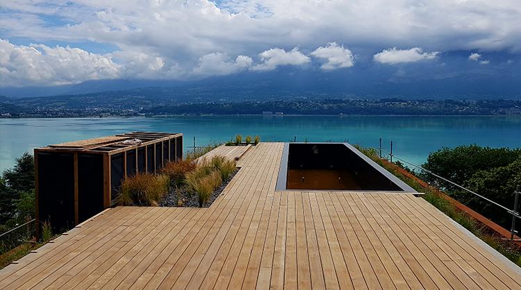 Terrasse vue sur le lac du Bourget